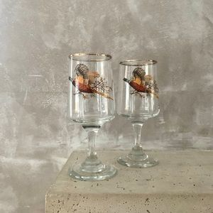 4x Vintage Pheasant Port Glasses